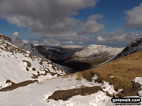 Ullswater and Place Fell from snowy Hartsop Dodd