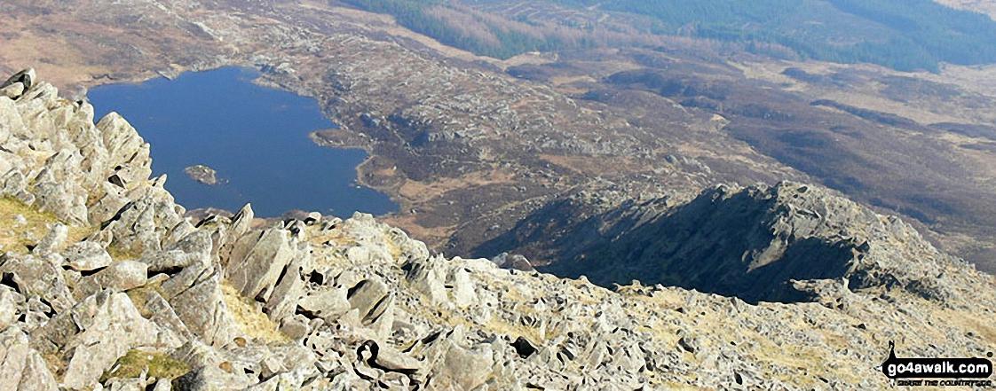Looking down the Daear Ddu Ridge to Llyn y Foel from Carnedd Moel Siabod