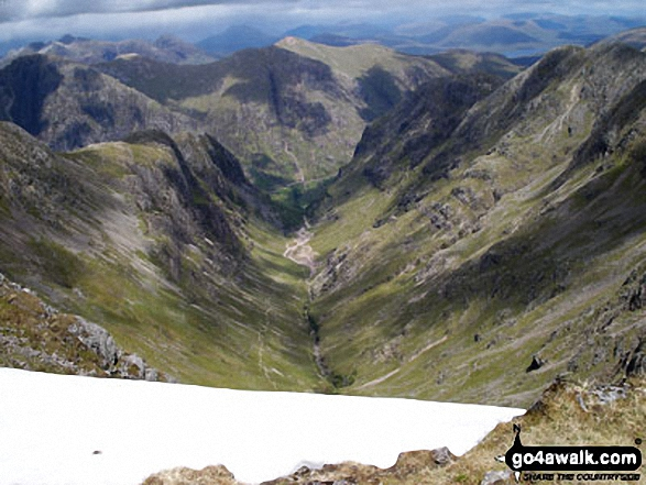 The Lost Valley of Glen Coe from Lost Valley Buttress, Bealach Dearg