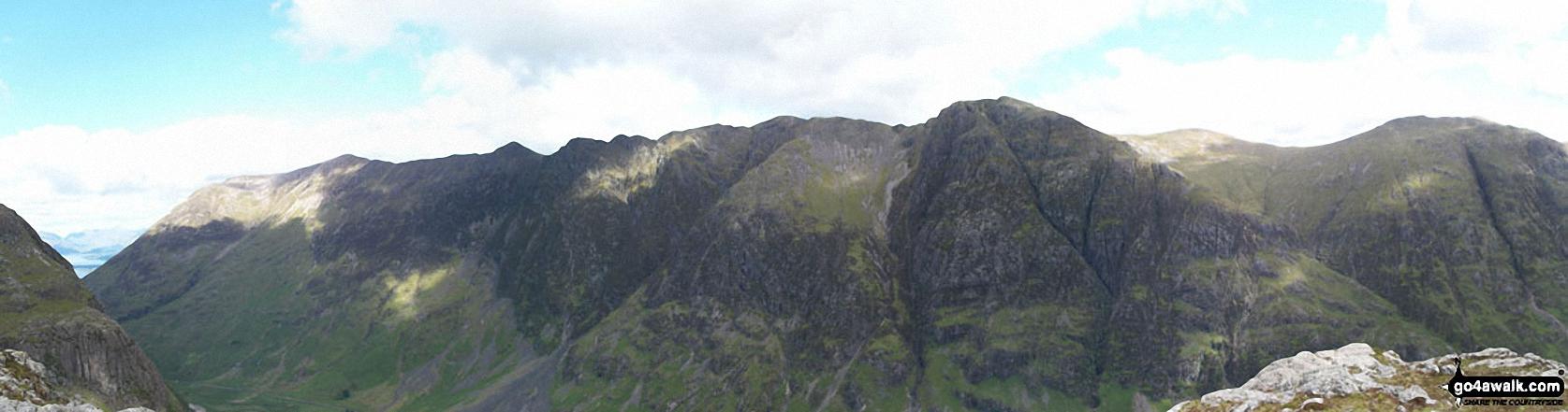 The Aonach Eagach Ridge from Bidean Nam Bian