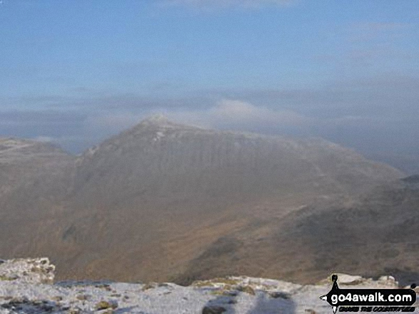 Bowfell from the second Crinkle (Long Top)