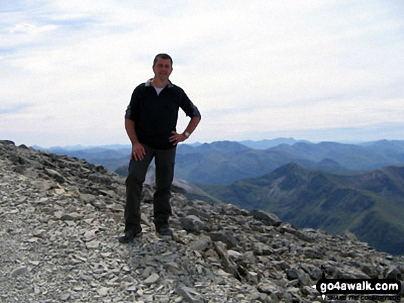 Chris near the top of Ben Nevis