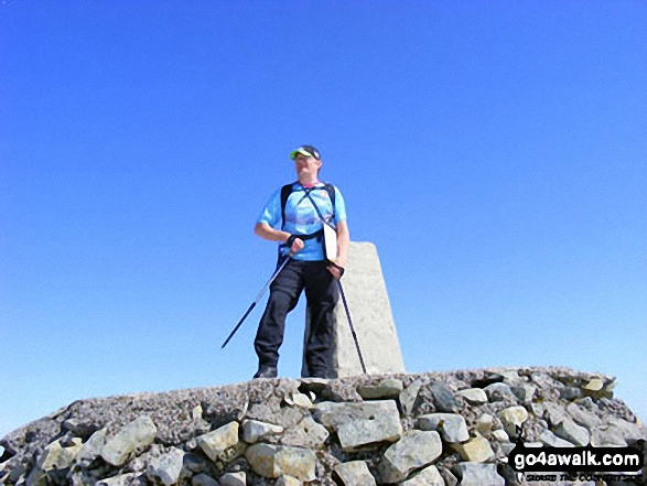 On the summit of Ben Nevis. Walk route map h137 Ben Nevis and Carn Mor Dearg from Achintee, Fort William photo