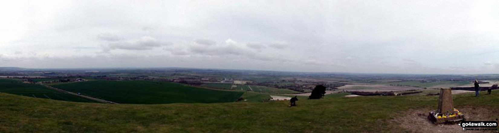The view from the summit of Ivinghoe Beacon