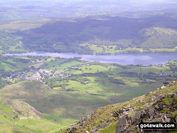 Walk Dow Crag walking UK Mountains in The Southern Fells The Lake District National Park Cumbria    England