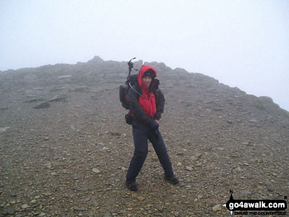 Me on Helvellyn walk The Lake District Cumbria England walks