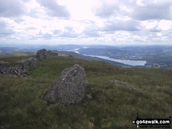 Lake Windermere from Snarker Pike. Walk route map c230 The Scandale Beck Horizon from Ambleside photo
