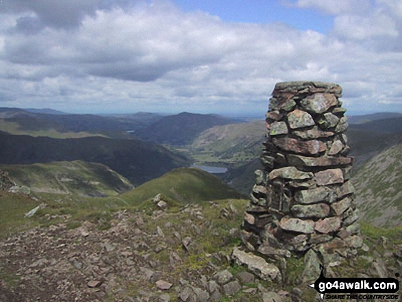 Brothers Water from the summit of Red Screes. Walk route map c230 The Scandale Beck Horizon from Ambleside photo