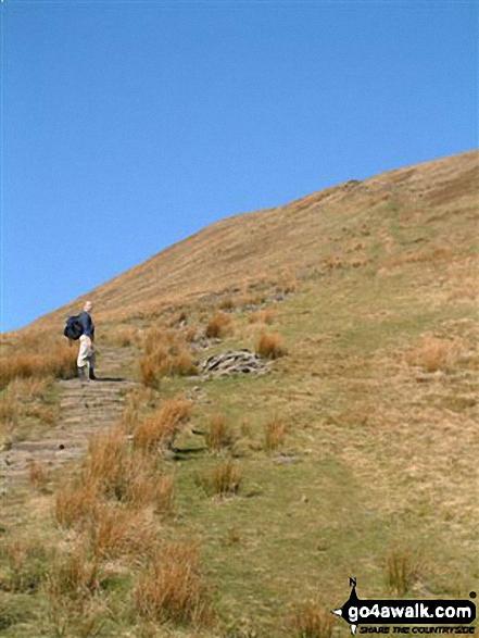 Climbing Craig y Fan Ddu. Walk route map po131 Bwlch y Ddwyallt and Fan y Big from Blaen y Glyn photo