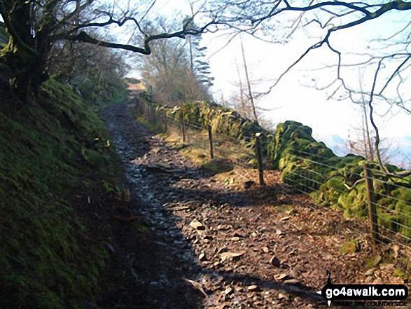 Climbing towards Pen Rhiw-calch