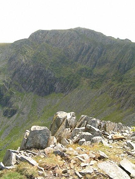 Cadair Idris (Penygadair) summit from Cyfrwy
