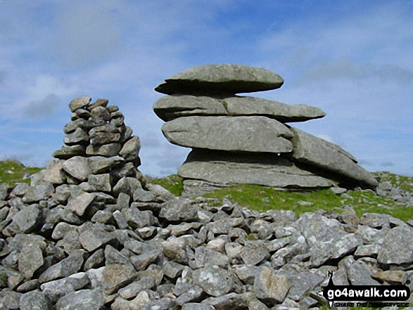 Rough Tor. Walk route map co168 Brown Willy and Bodmin Moor from St Breward photo