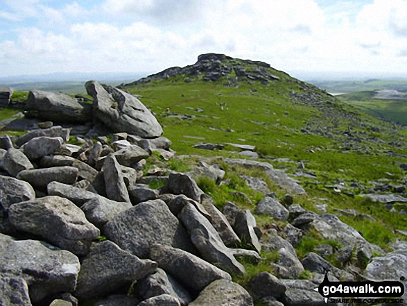 Little Rough Tor from Rough Tor. Walk route map co168 Brown Willy and Bodmin Moor from St Breward photo