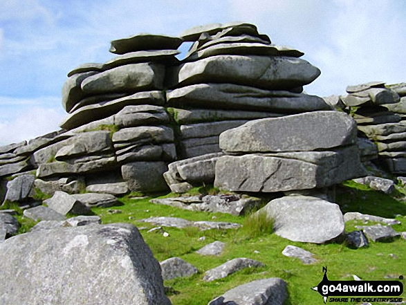 On Rough Tor. Walk route map co168 Brown Willy and Bodmin Moor from St Breward photo