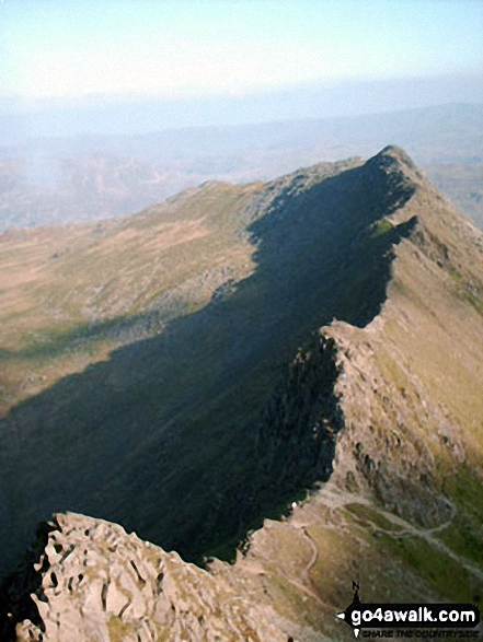 Superb view of Striding Edge from Helvellyn