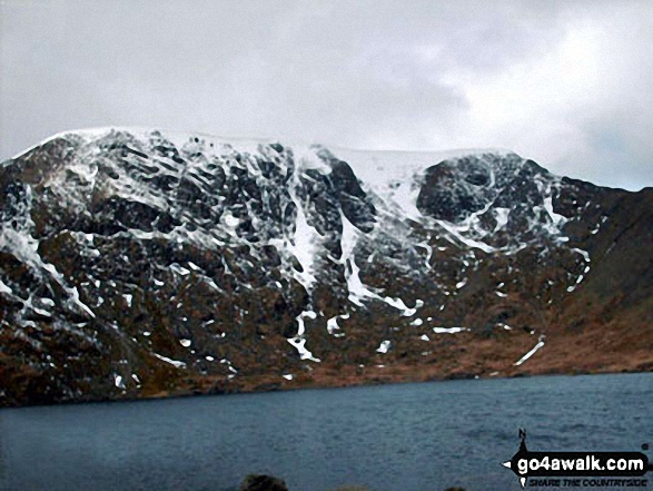 Helvellyn and Red Tarn from below Swirral Edge
