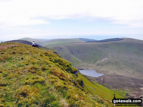 Walk Craig-y-llyn walking UK Mountains in The Cadair Idris Area Snowdonia National Park Gwynedd    Wales