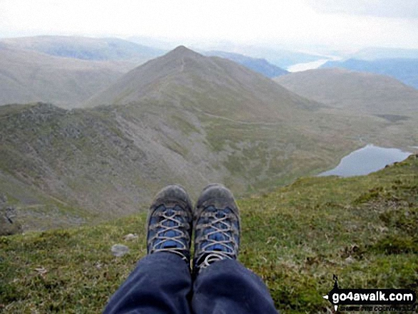 Catstye Cam and Red Tarn from the top of Helvellyn, May 2012. Walk route map c192 Helvellyn Ridge from Glenridding photo
