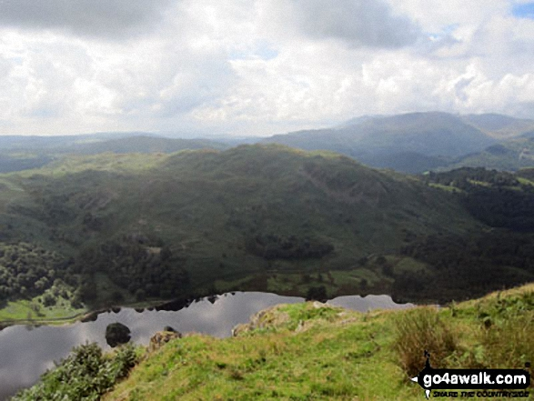 Loughrigg Fell and Rydal Water from Nab Scar