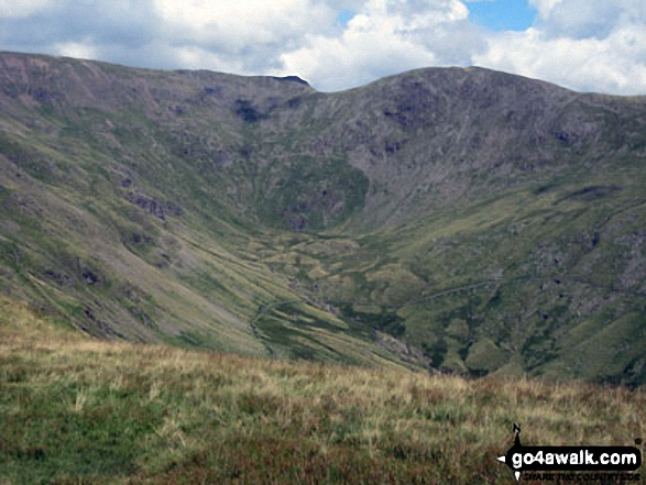 Rydal Head with Fairfield (left) and Hart Crag (right) from Great Rigg. Walk route map c247 The Fairfield Horseshoe from Ambleside photo