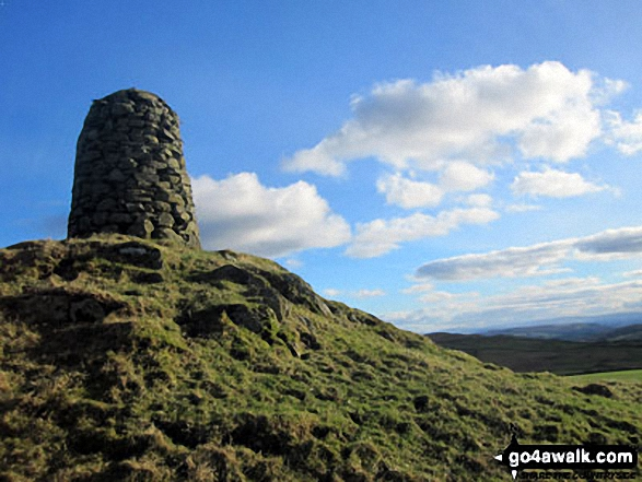 Walk High Knott (Williamson's Monument) walking UK Mountains in The Far Eastern Marches The Lake District National Park Cumbria    England