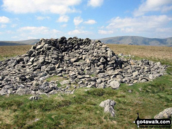 Selside Pike summit cairn. Walk route map c251 The Mardale Head Horizon from Mardale Head photo