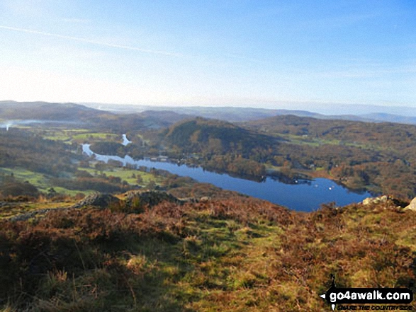 Windermere from the summit of Gummer's How