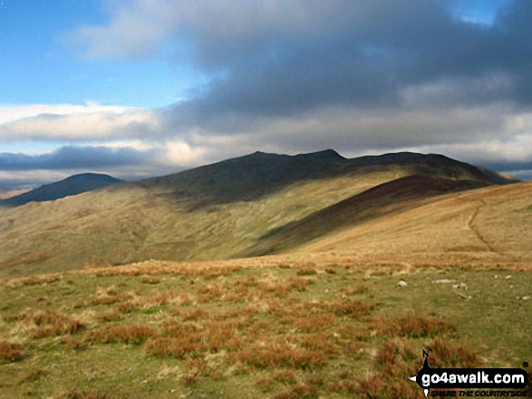 Grey Friar (left), Dow Crag, Brown Pike and The Old Man of Coniston (right) from White Maiden