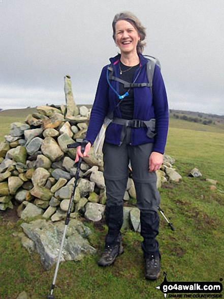 Me at a cairn on the way up to Hampsfell