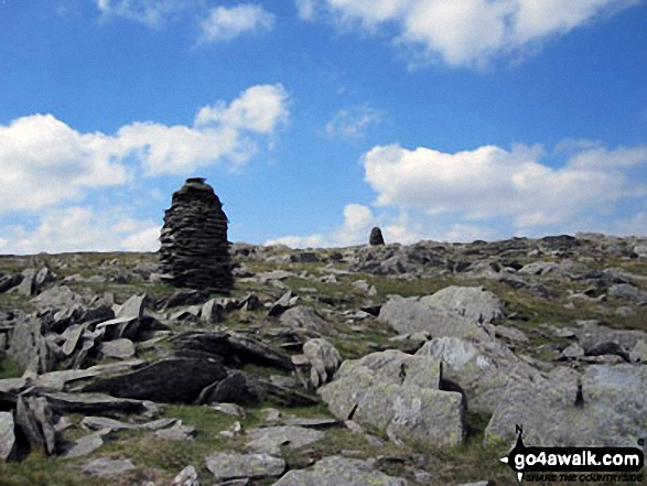 Stone Beacons on the summit of Branstree