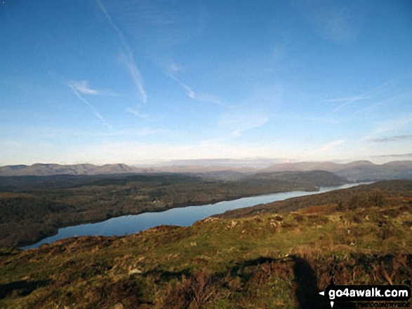Windermere in autumn sunshine from Gummer's How