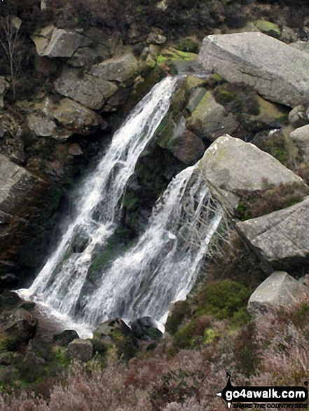Waterfall Gill Beck on the way to Rylestone Fell and Cracoe Fell