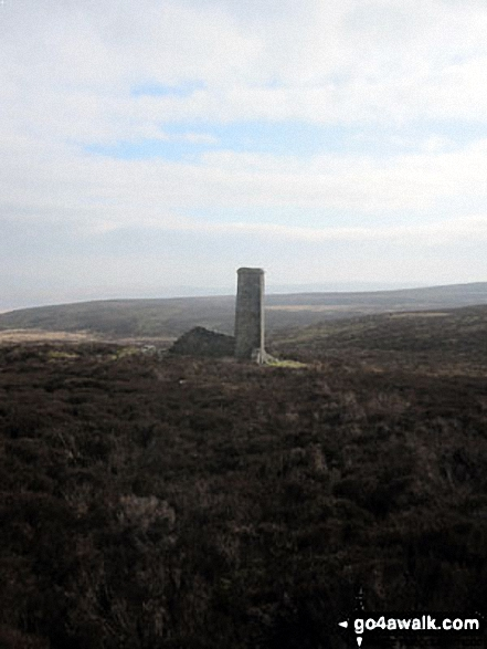 Ruin on the way to Upper Barden Reservoir. Walk route map ny124 Rylstone Fell, Cracoe Fell, Thorpe Fell Top and Embsay Moor from Embsay photo