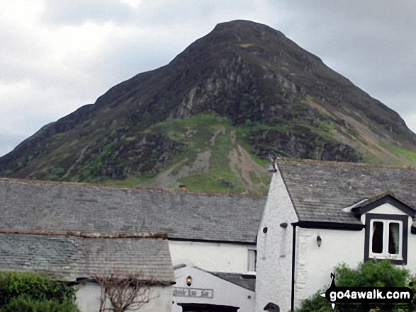 Mellbreak from the Kirkstile Inn car park at Loweswater. Walk route map c275 Darling Fell, Low Fell and Fellbarrow from Loweswater photo