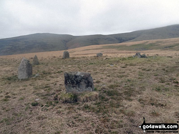 Walk c440 Whin Rigg, Illgill Head and Boat How from Miterdale Bridge - A stone circle near Boat How
