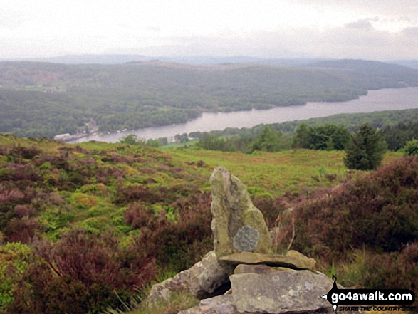 Windermere from Staveley Fell summit cairn