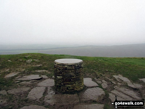 The viewpoint marker on the summit of Lose Hill (Ward's Piece)