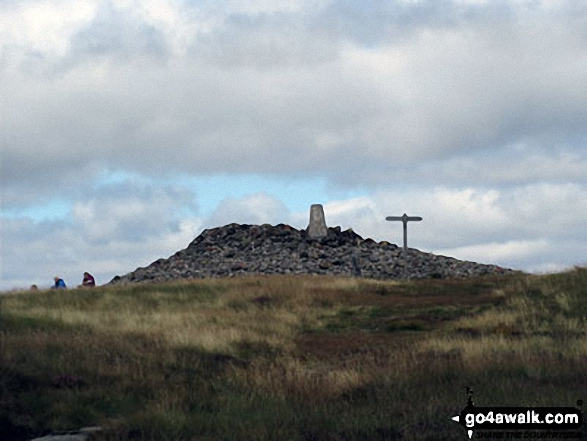 Windy Gyle. Walk route map n157 Swineside Law and Windy Gyle from Wedder Leap, Barrowburn photo