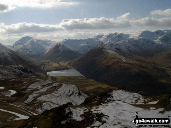 Brothers Water from the summit of Angletarn Pikes. Walk route map c249 The Knott and Angletarn Pikes from Patterdale photo