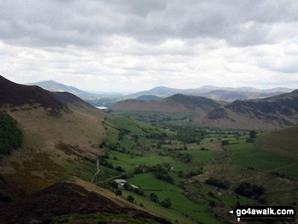 Knott Rigg (foreground left), Buttermere (just poking out) with Red Pike (Buttermere) beyond and Whitelees Pike & Wandope (centre right) from Ard Crags. Walk route map c345 Knott Rigg and Ard Crags from Little Town photo
