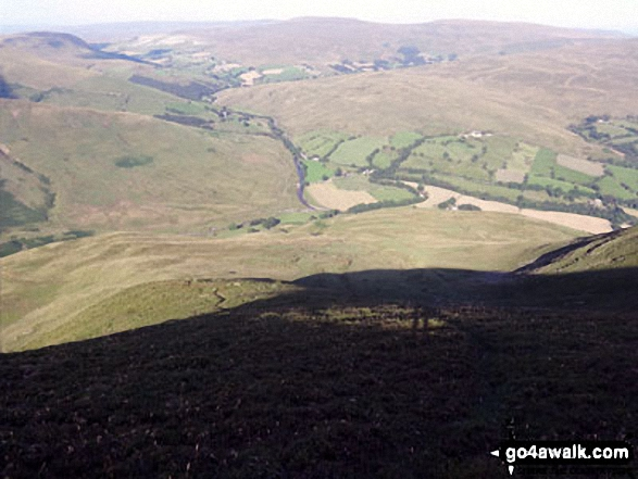 The River Rawthey valley from Great Dummacks