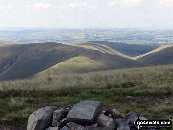 The view from Fell Head (Howgills) summit cairn