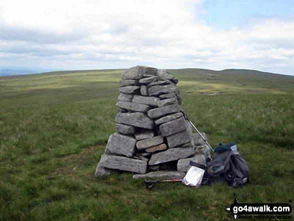 Hugh Seat summit cairn