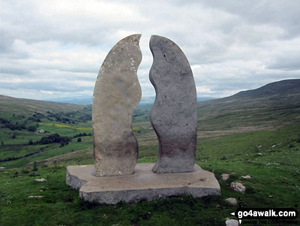 The Water Cut Sculpture on The Lady Anne's Way, Mallerstang