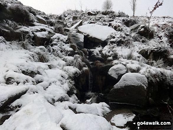 West Buck Stones (Ilkley Moor) in the snow