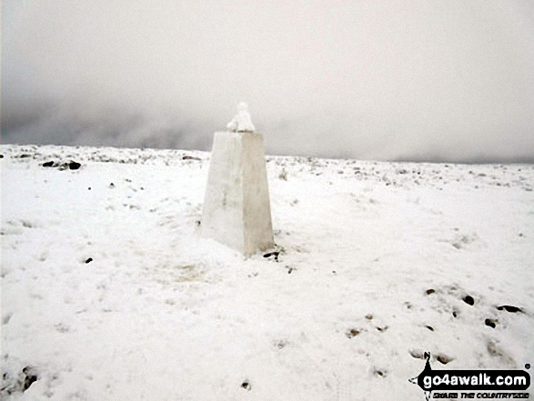 Rombalds Moor (Ilkley Moor) Trig Point in the snow