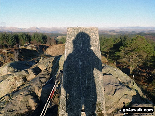 My shadow on Carron Crag Trig point