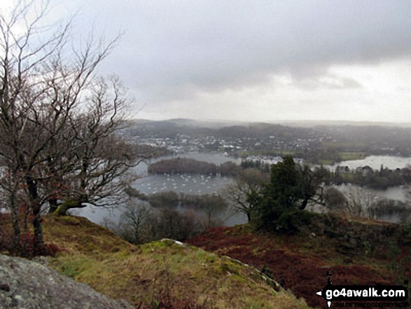 View over Windermere from the path up Claife Heights