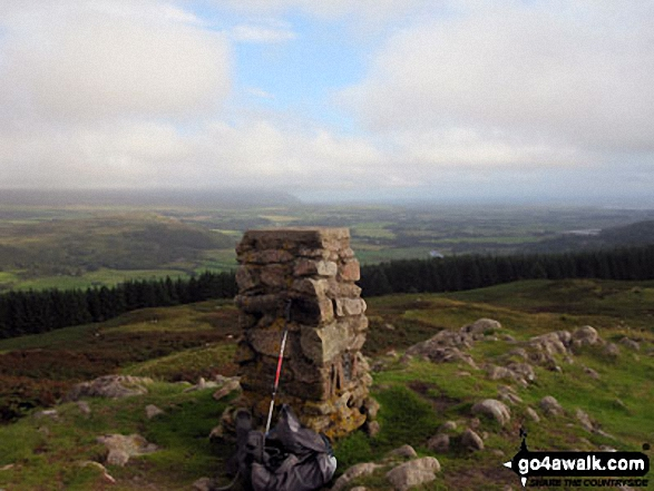 Muncaster Fell (Hooker Crag) summit trig point