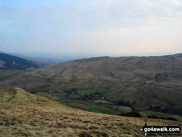 Looking down into Borrowdale from near High House Bank